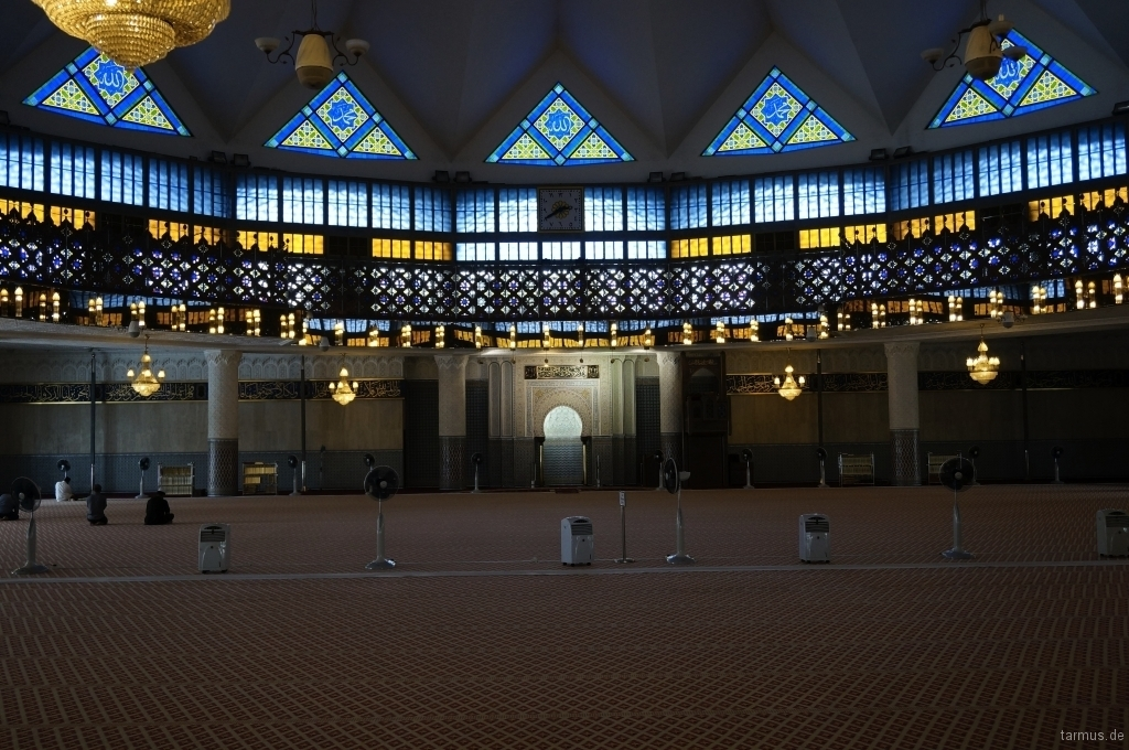 Inside View of the National Mosque of Malaysia