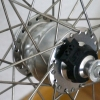 Spoked front wheel with the Shutter Precision PV-8 hub dynamo