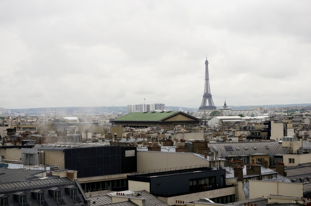 Spectacular view from La Terrasse at Galeries Lafayette