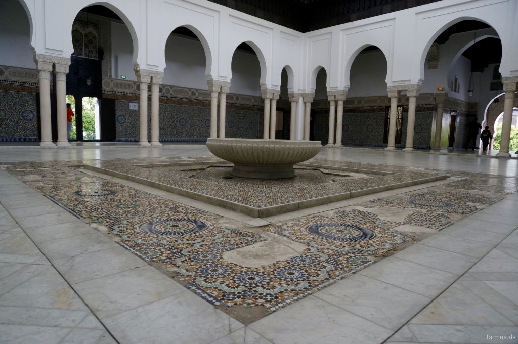 Grand Patio of The Grand Mosque of Paris