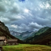 Gloomy weather, Steg, Liechtenstein