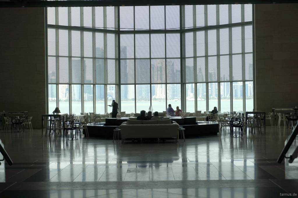 Café in the Museum of Islamic Art in Doha, Qatar