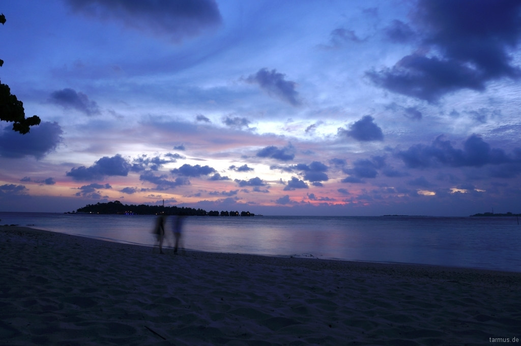 Evening on Bodufolhudhoo, Maldives