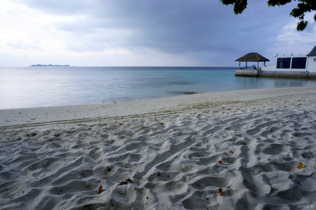 Beach on Bodufolhudhoo, Maldives