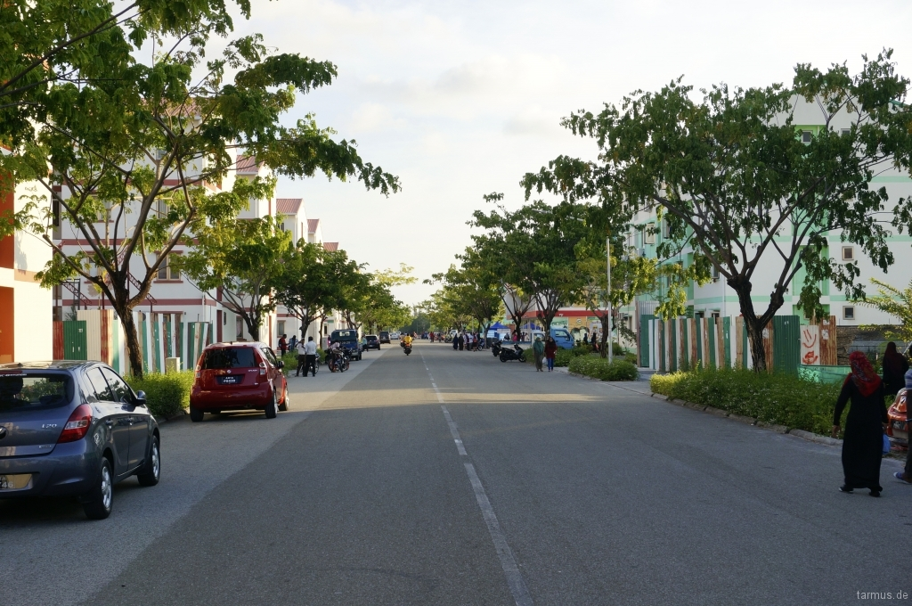Street in Hulhumale, Maldives
